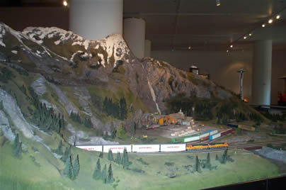 Model train display at Chicago's Museum of Science and Industry